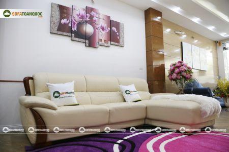Mẫu ghế sofa da góc phải cao cấp nhập khẩu mã sdn26p-7