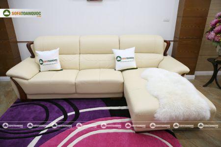 Mẫu ghế sofa da góc phải cao cấp nhập khẩu mã sdn26p-8