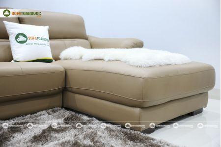 Bộ bàn ghế sofa da đẹp góc trái mã sdn21t-11