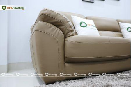 Bộ bàn ghế sofa da đẹp góc trái mã sdn21t-12