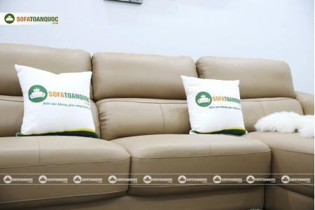 Bộ bàn ghế sofa da đẹp góc trái mã sdn21t-14