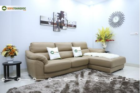 Bộ bàn ghế sofa da đẹp góc trái mã sdn21t-6