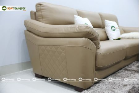 Bộ bàn ghế sofa da đẹp góc trái mã sdn21t-8