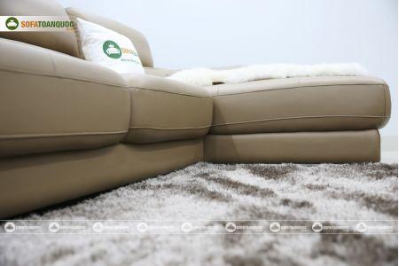 Bộ bàn ghế sofa da đẹp góc trái mã sdn21t-10