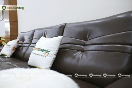 Bộ bàn ghế sofa da phong cách châu âu nhập khẩu mã sdn22t-13
