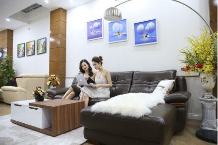 Bộ bàn ghế sofa da phong cách châu âu nhập khẩu mã sdn22t-5
