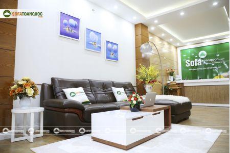 Bộ bàn ghế sofa da phong cách châu âu nhập khẩu mã sdn22t-7
