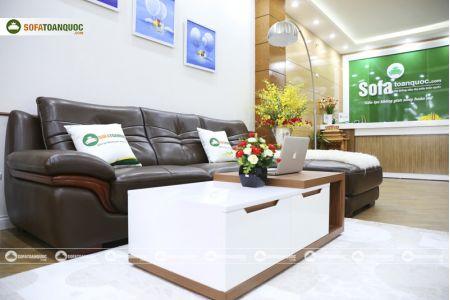Bộ bàn ghế sofa da phong cách châu âu nhập khẩu mã sdn22t-8