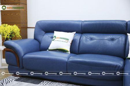Ghế sofa da màu xanh dương nhập khẩu mã VH11T-7