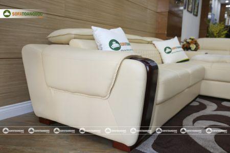 Bộ bàn ghế sofa da góc đẹp mã sdn28t-10