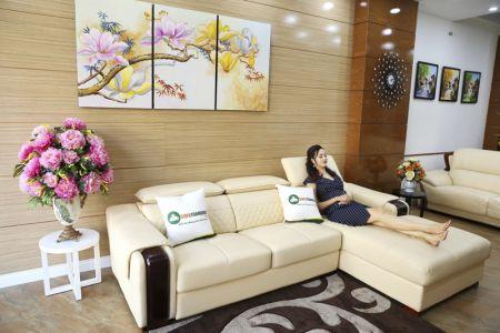 Bộ bàn ghế sofa da góc đẹp mã sdn28t-1