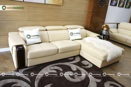 Bộ bàn ghế sofa da góc đẹp mã sdn28t-4