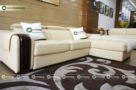 Bộ bàn ghế sofa da góc đẹp mã sdn28t-5