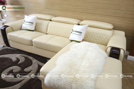 Bộ bàn ghế sofa da góc đẹp mã sdn28t-6