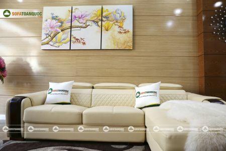 Bộ bàn ghế sofa da góc đẹp mã sdn28t-7
