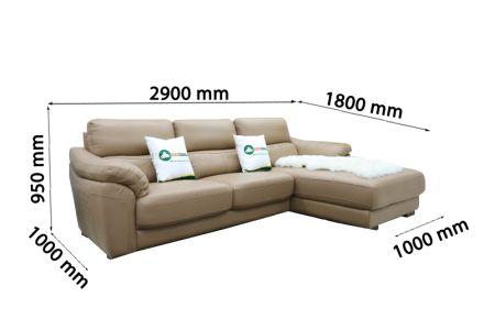 Sofa da nhập khẩu mã QV-911T