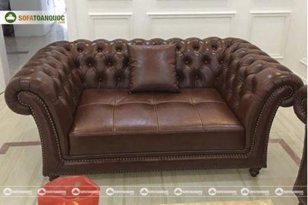 Bộ bàn ghế sofa da tân cổ điển đẹp mã 197-4