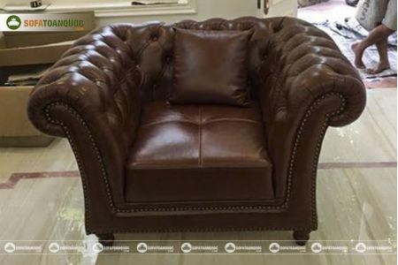 Bộ bàn ghế sofa da tân cổ điển đẹp mã 197-5