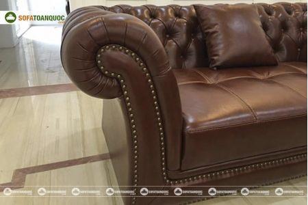 Bộ bàn ghế sofa da tân cổ điển đẹp mã 197-6