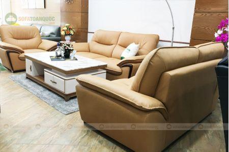 Bộ ghế sofa da cao cấp nhập khẩu mã TQ-07