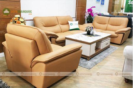 Bộ ghế sofa da cao cấp nhập khẩu mã TQ07