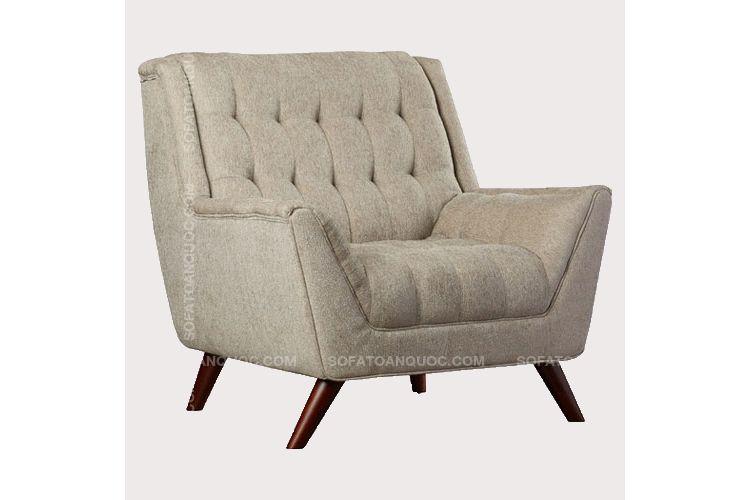 Mẫu ghế sofa đơn cổ điển bọc nỉ đẹp mã 04