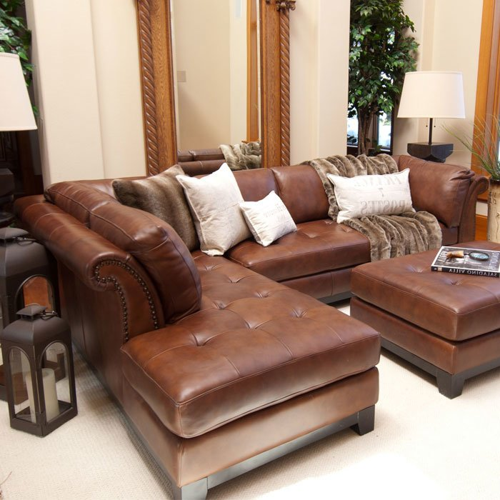 bộ bàn ghế sofa da bò thật