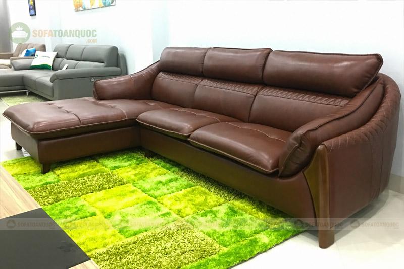 sofa da bò tót thật