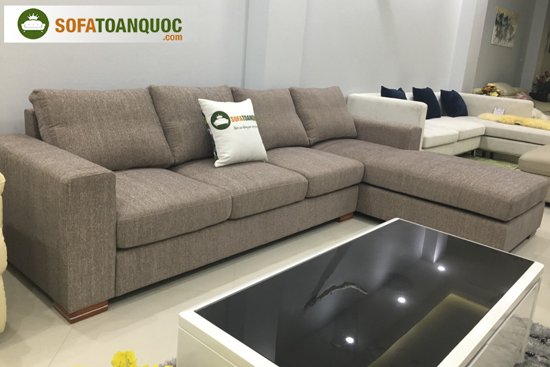 ghế sofa vải màu xám đẹp cho mùa đông