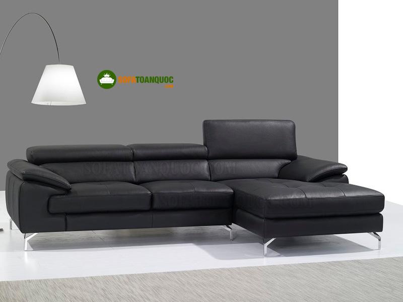 sofa da góc chữ L có tựa lưng gật gù
