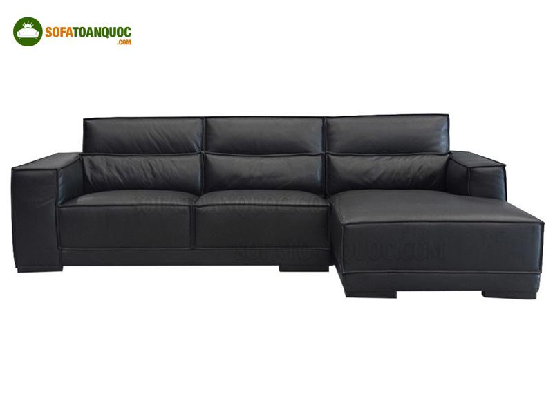 sofa da màu đen phong cách hiện đại