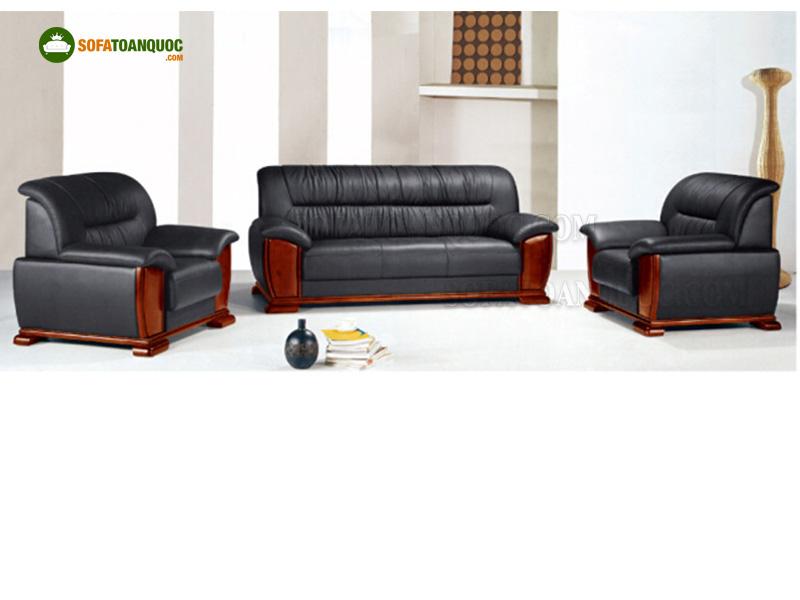 sofa da khung gỗ đẹp