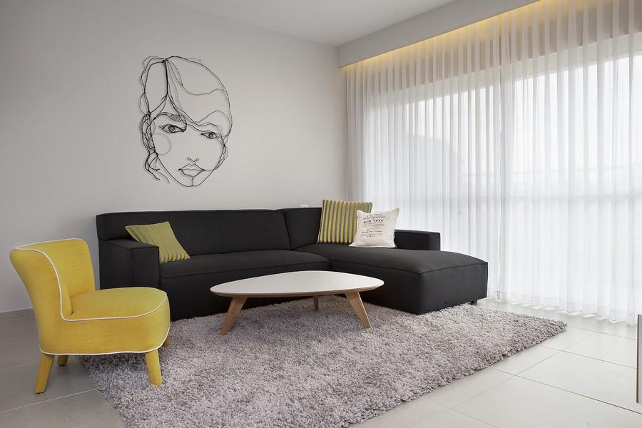 bộ bàn ghế sofa bọc da màu đen sậm