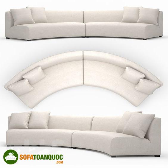 bộ ghế sofa bọc vải hình dáng cong chữ C