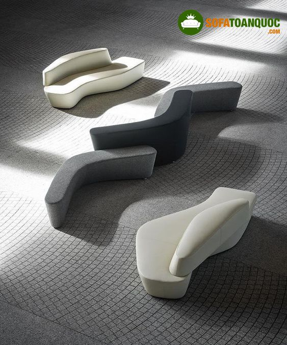 ghế sofa cong hình lượn sóng cho phòng chờ