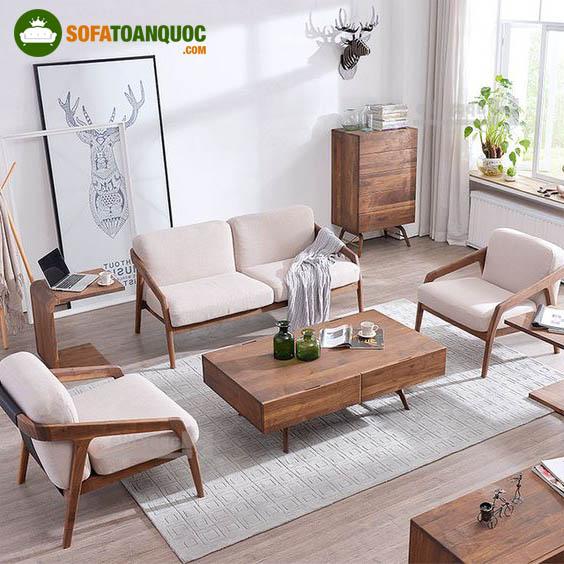 bộ ghế sofa gỗ mini