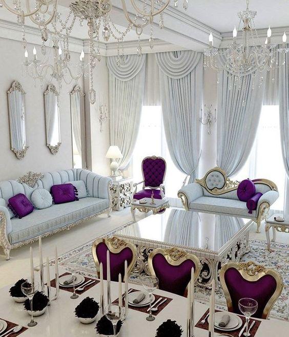 ghế sofa hoàng gia bọc vải màu sáng đẹp