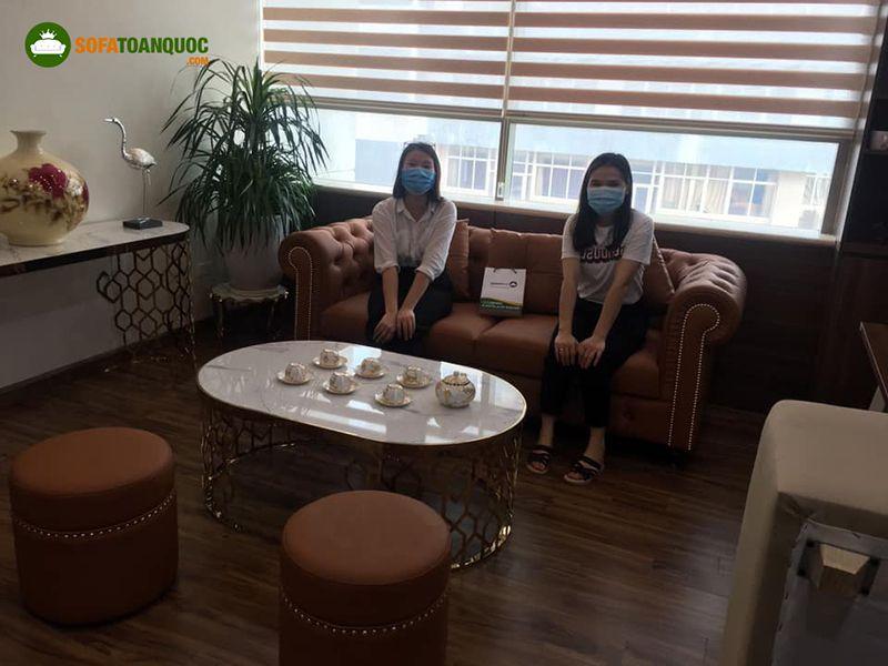 Mẫu ghế sofa tiếp khách dành cho quán spa