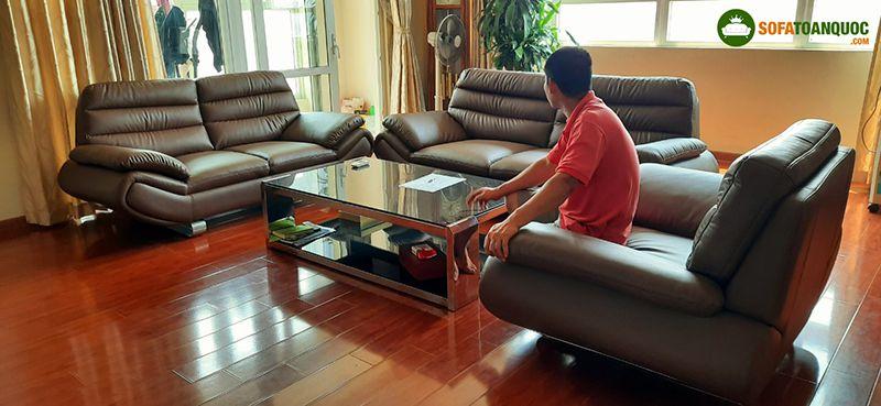 bộ ghế sofa tiếp khách văn phòng hiện đại