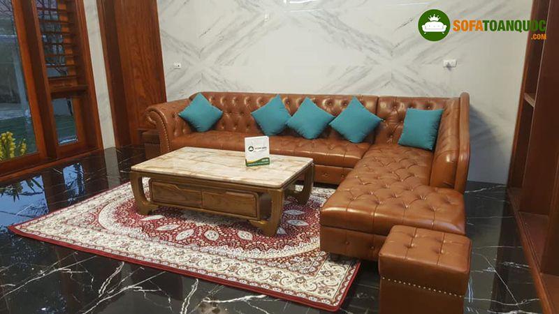 bộ ghế sofa tiếp khách văn phòng đẹp mắt