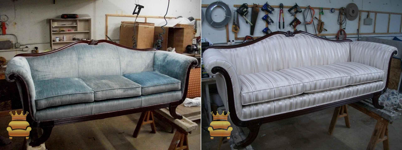 sản phẩm sau khi bọc mới ghế sofa
