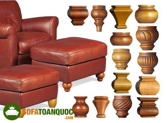 chân ghế sofa gỗ