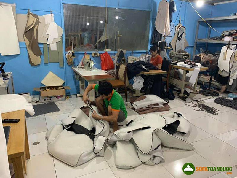 nhà máy sản xuất sofa