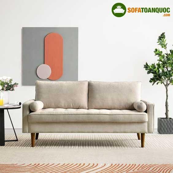 ghế sofa chân cao gỗ tự nhiên
