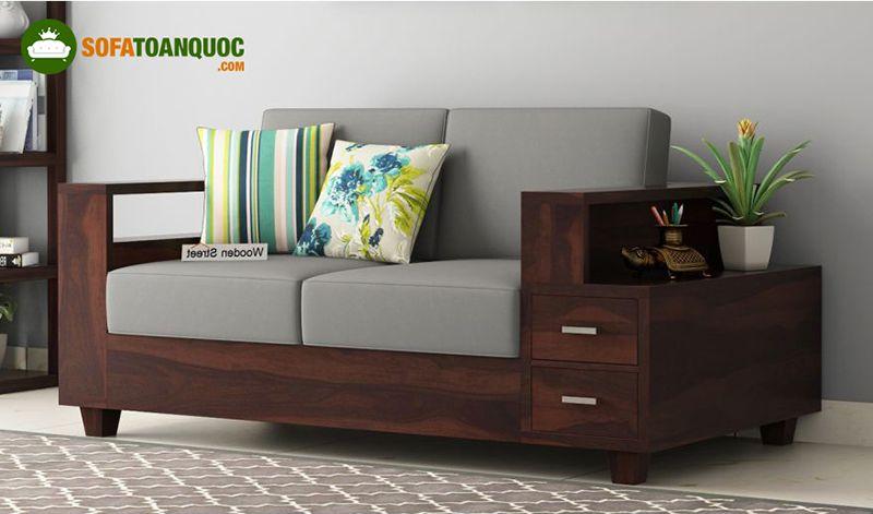 ghế sofa có hộc tủ bằng gỗ
