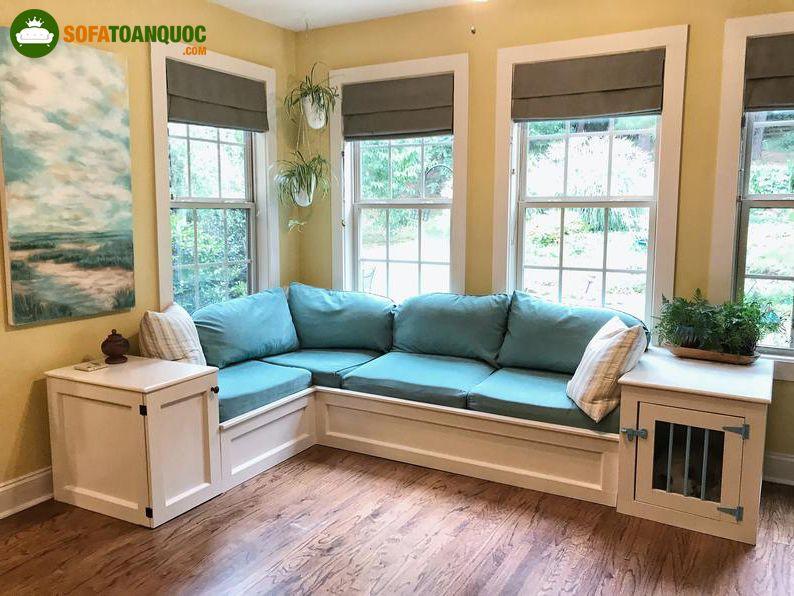 bộ ghế sofa góc có hộc tủ