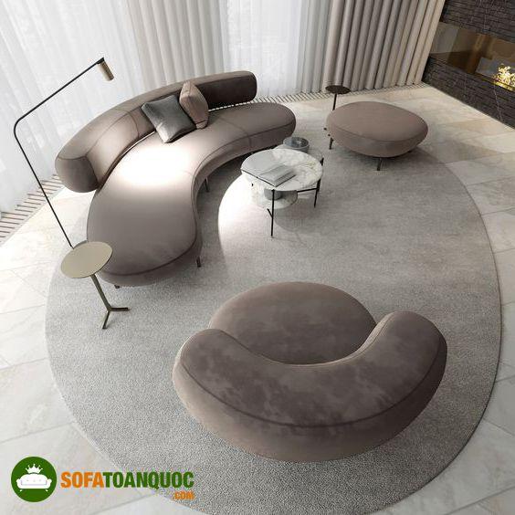 ghế sofa cong phòng khách
