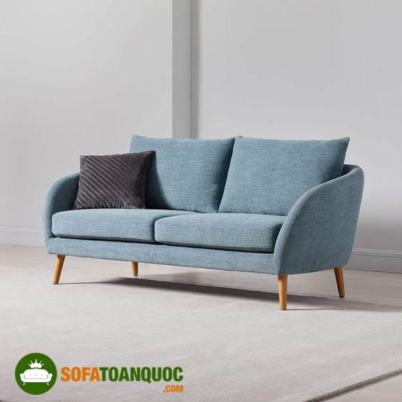 ghế sofa đơn dài bọc vải nỉ chân ghế gỗ