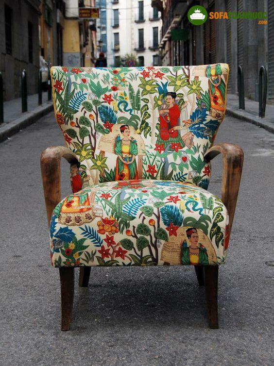 ghế sofa đơn vải hoa