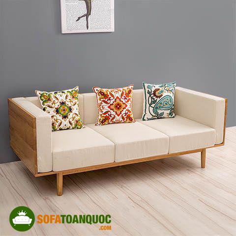 bộ ghế sofa gỗ đệm cho mùa đông